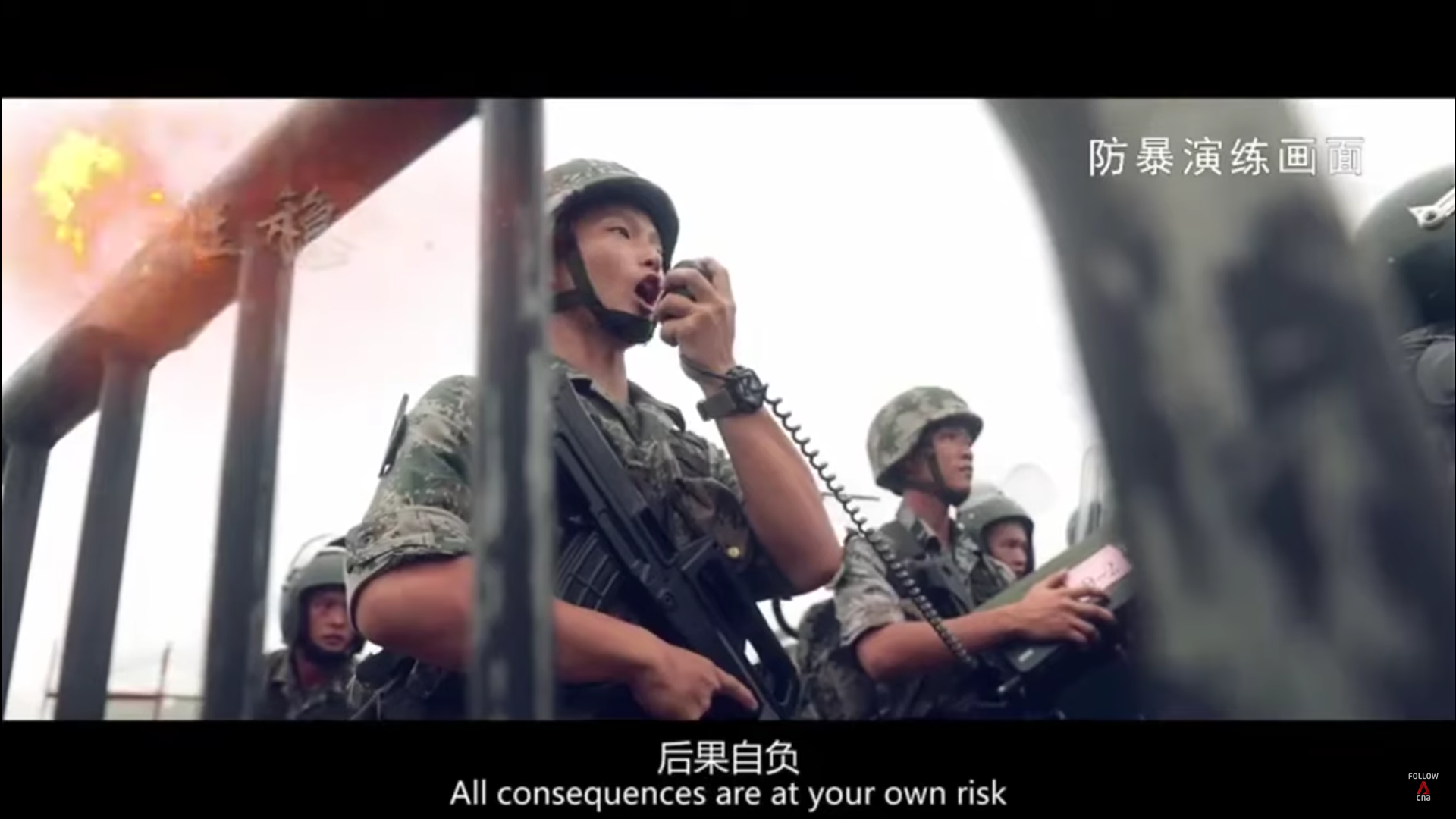 Chinese Military Garrison In Hong Kong Sends Warning To Rioters