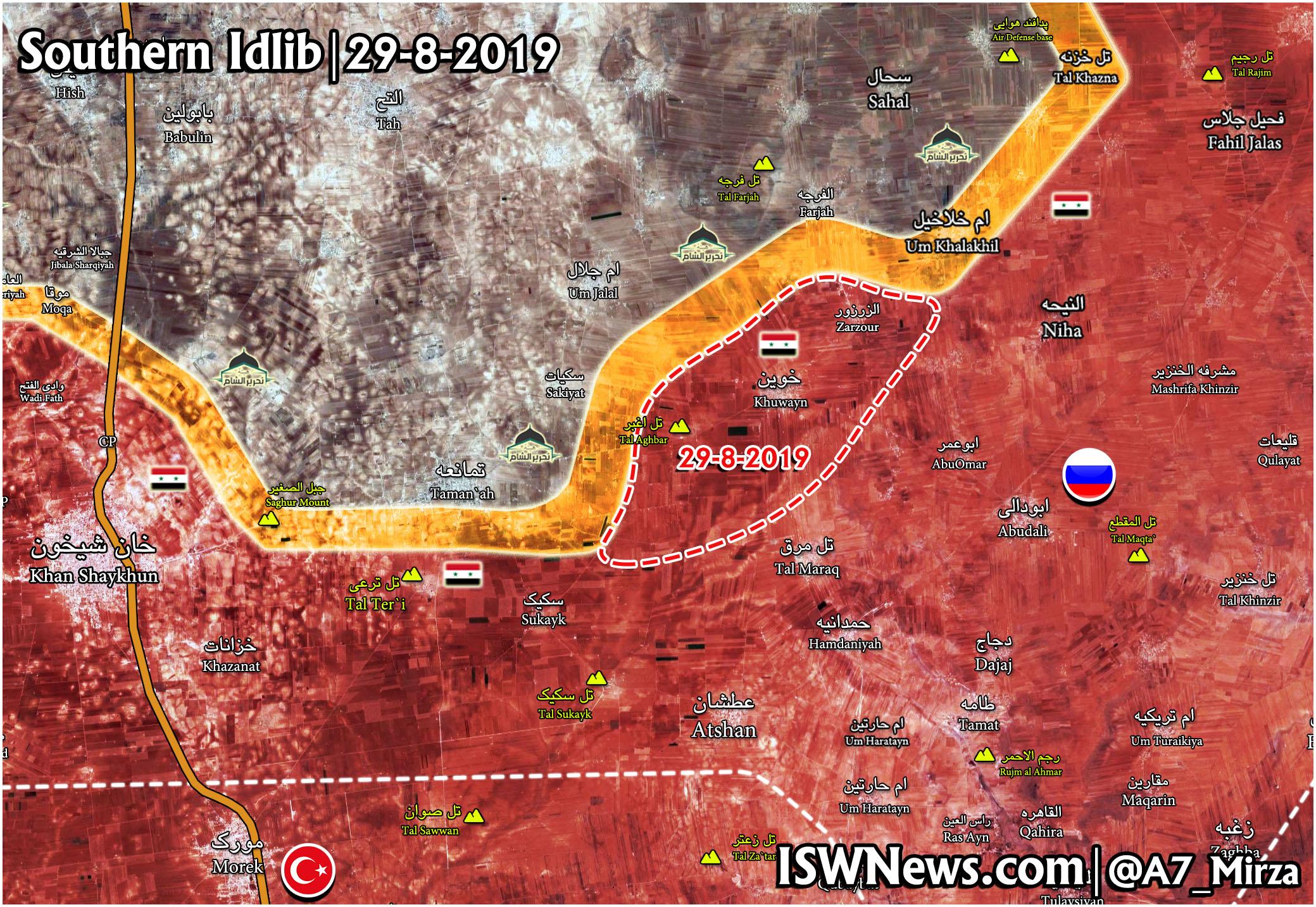 シリア軍、イドリブ南東部での活動を再開し、いくつかの町を占領