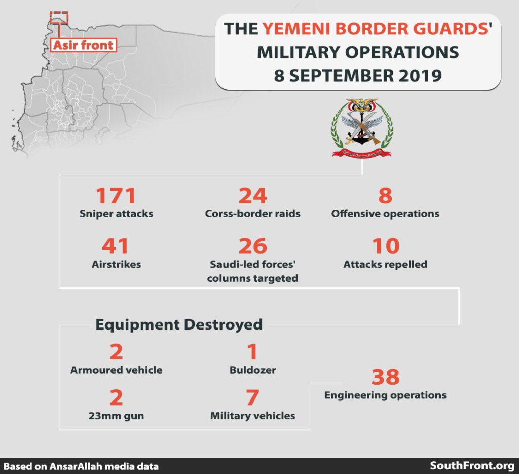 Ansar Allah Released Details On Recent Border Clashes With Saudi-led Forces (Infographics)