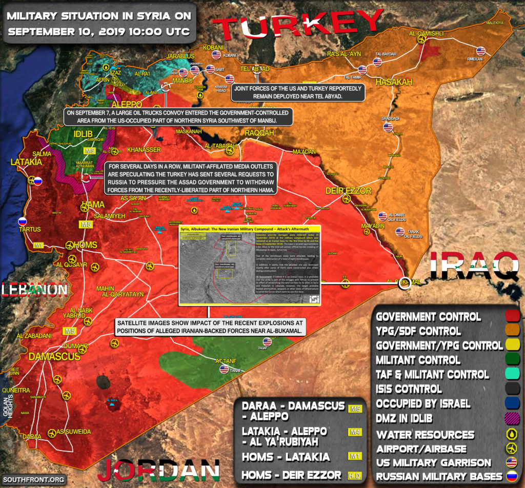 Military Situation In Syria On September 10, 2019 (Map Update)