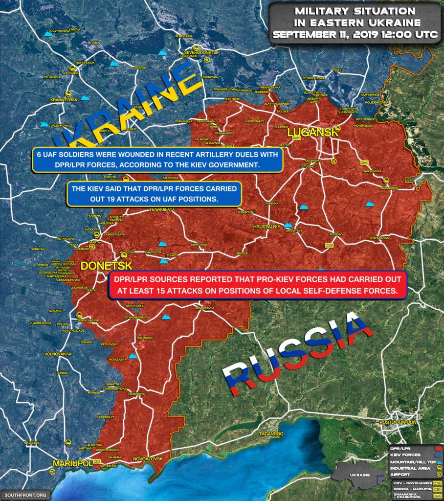 At Least 6 Pro-Kiev Troops Were Wounded In Recent Hostilities In Eastern Ukraine