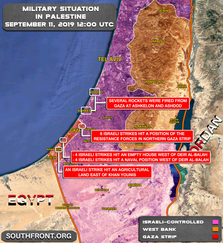 Map Update: Israeli Strikes On Gaza Strip In Response To Recent Missile Launches