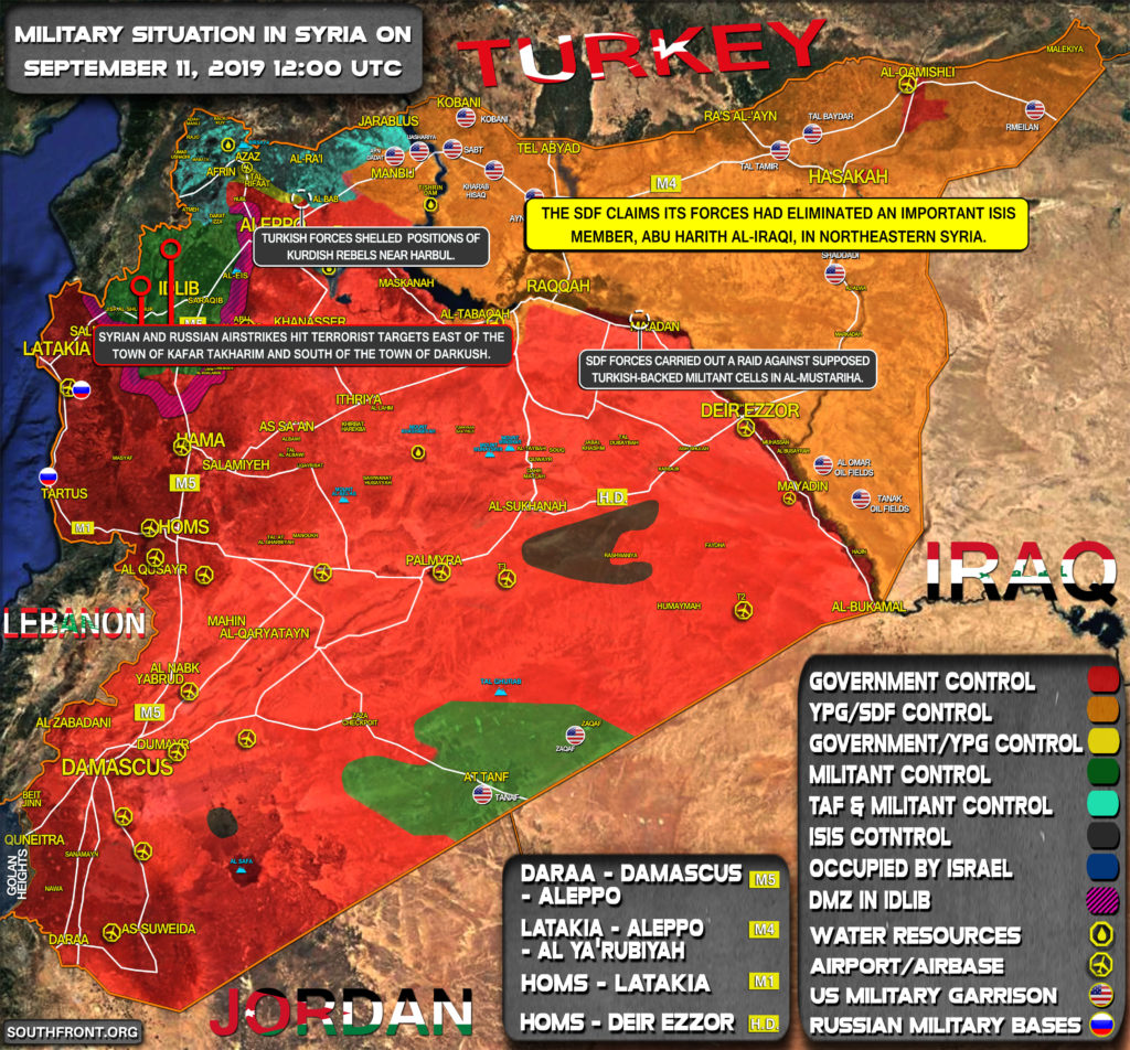 Military Situation In Syria On September 11, 2019 (Map Update)