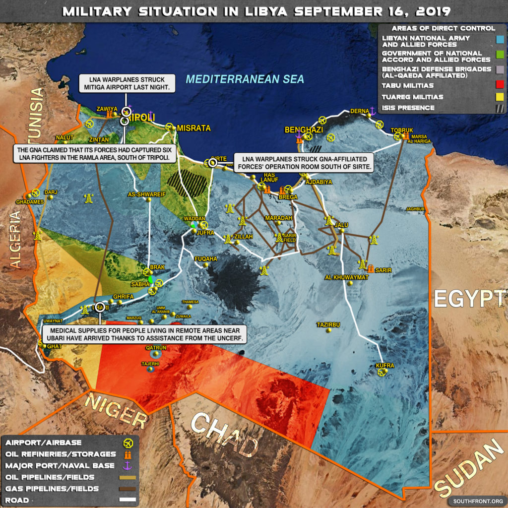 Map Update: Military Situation In Libya On September 16, 2019