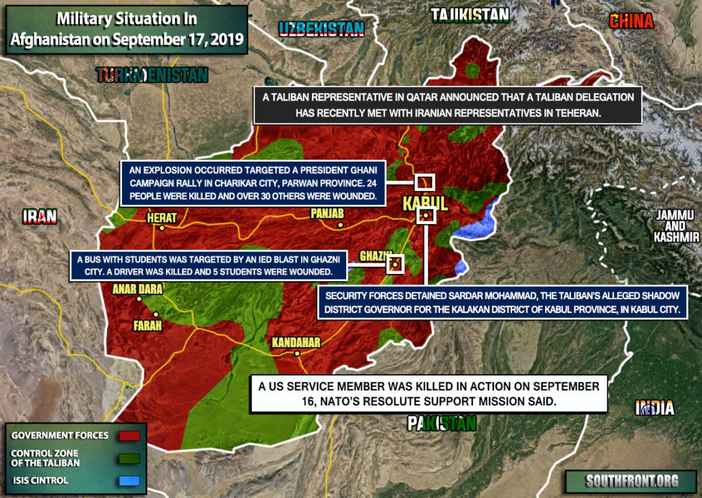 Military Situation In Afghanistan On September 17, 2019 (Map Update)