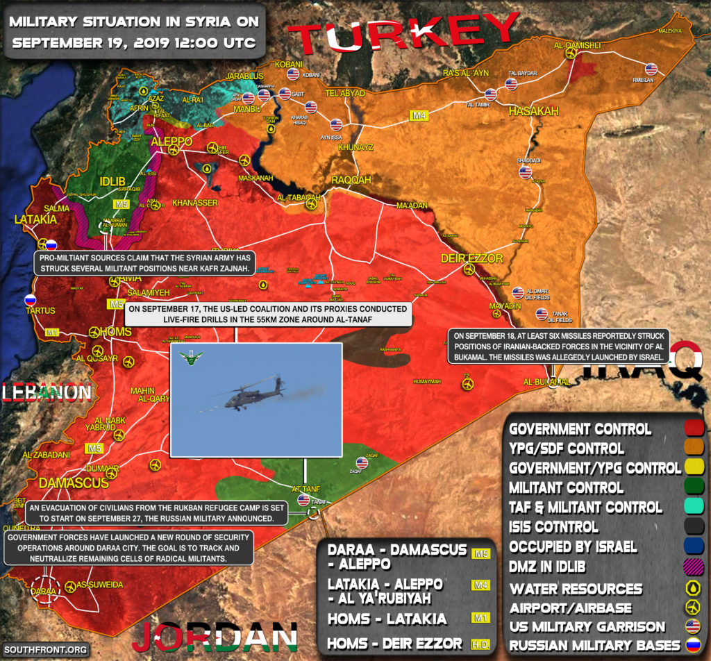 Military Situation In Syria On September 19, 2019 (Map Update)