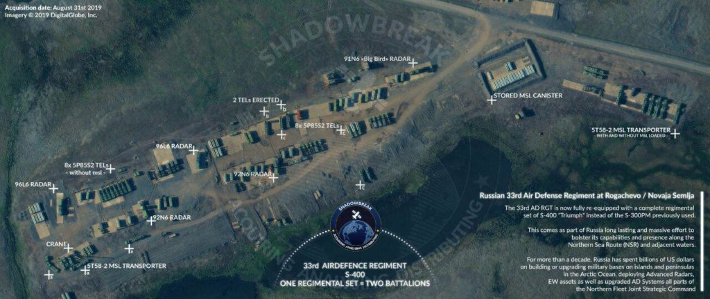 Satellite Image: Russia's S-400 Systems Deployed In Arctic