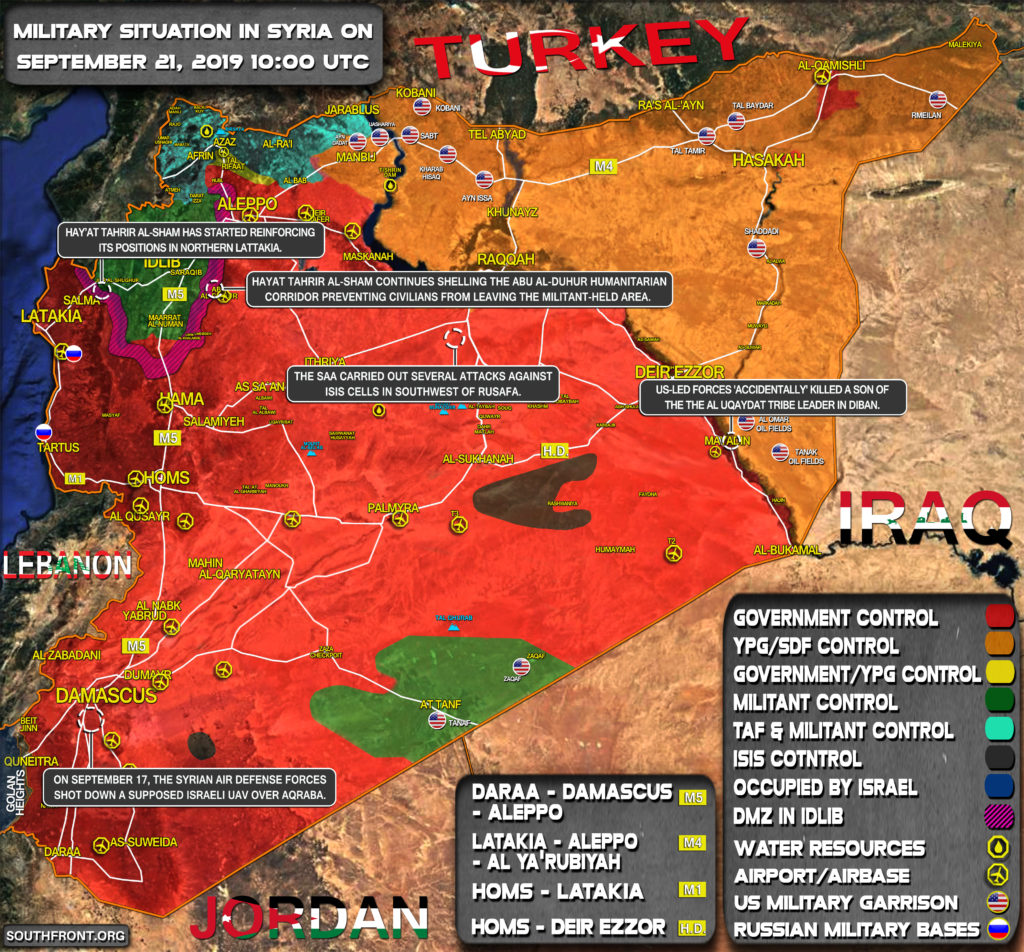 Military Situation In Syria On September 21, 2019 (Map Update)
