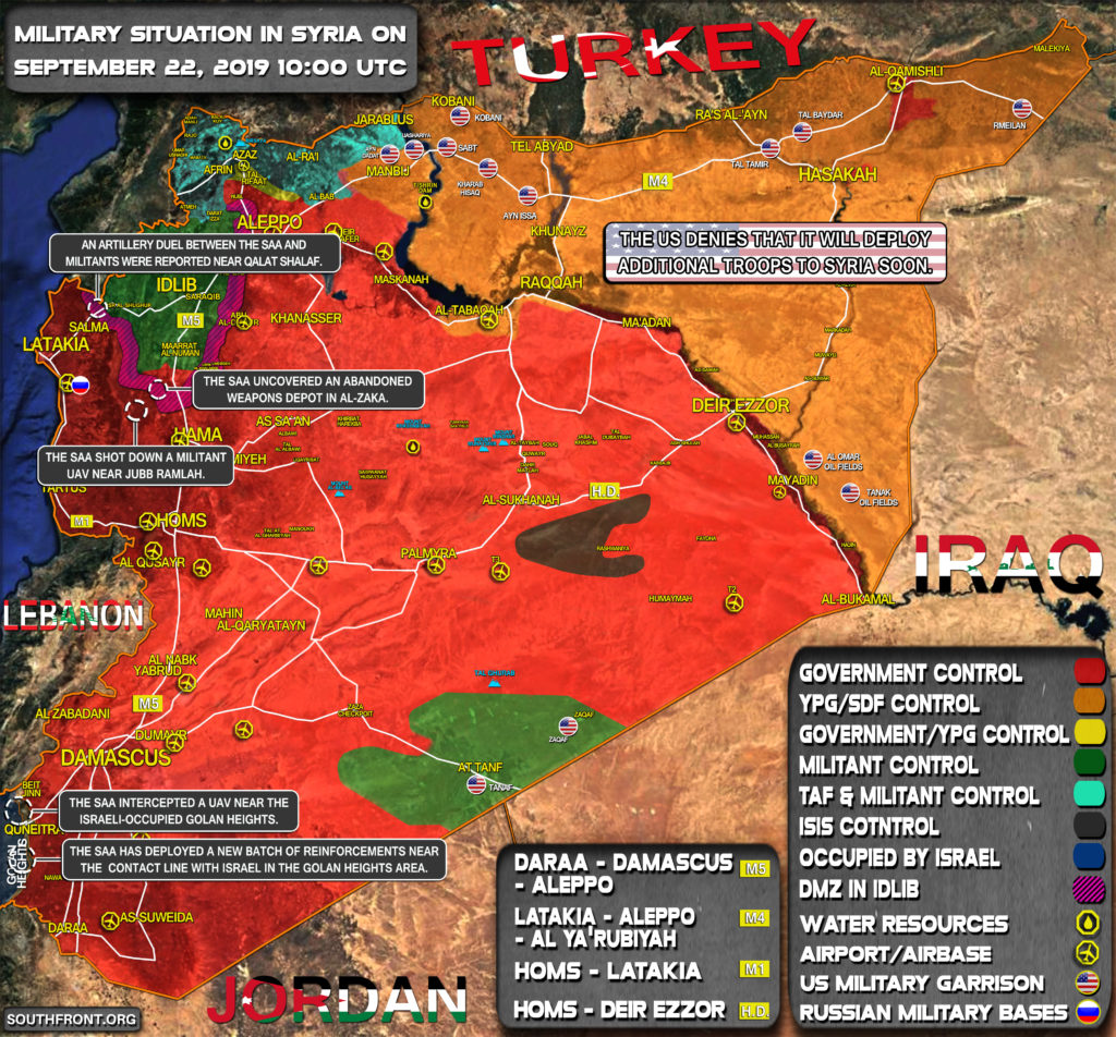 Military Situation In Syria On September 22, 2019 (Map Update)