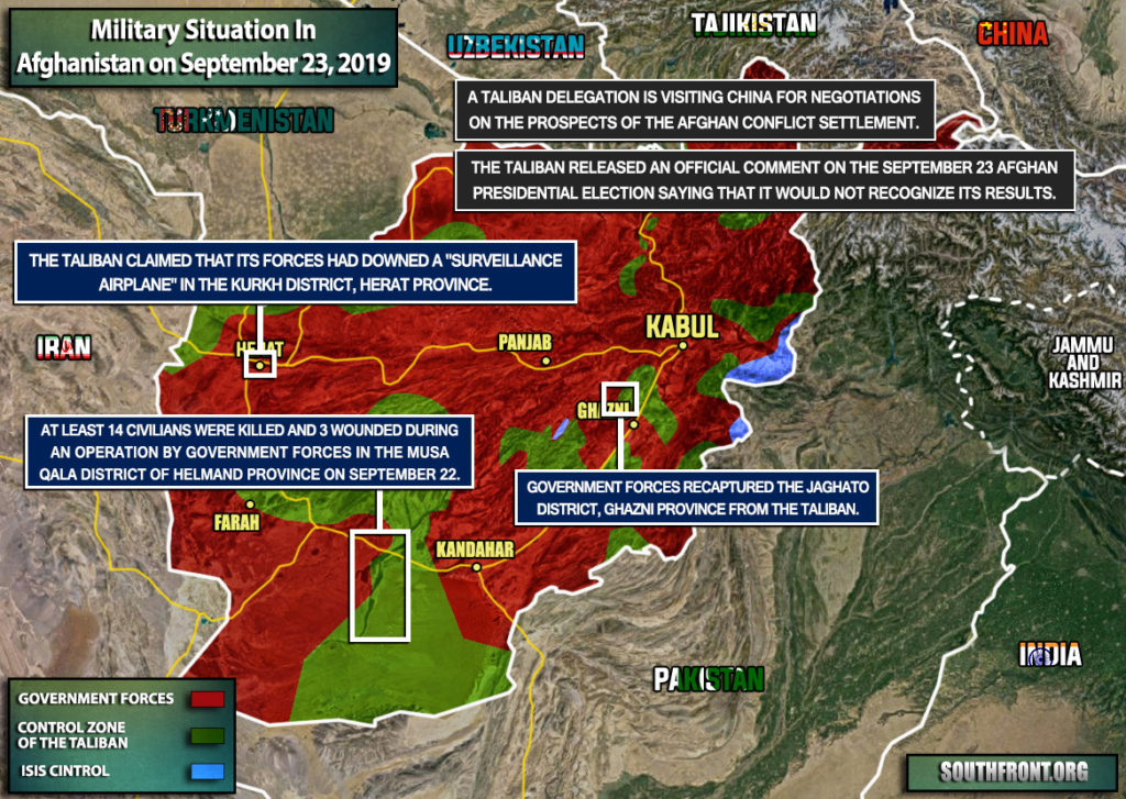 Military Situation In Afghanistan On September 23, 2019 (Map Update)