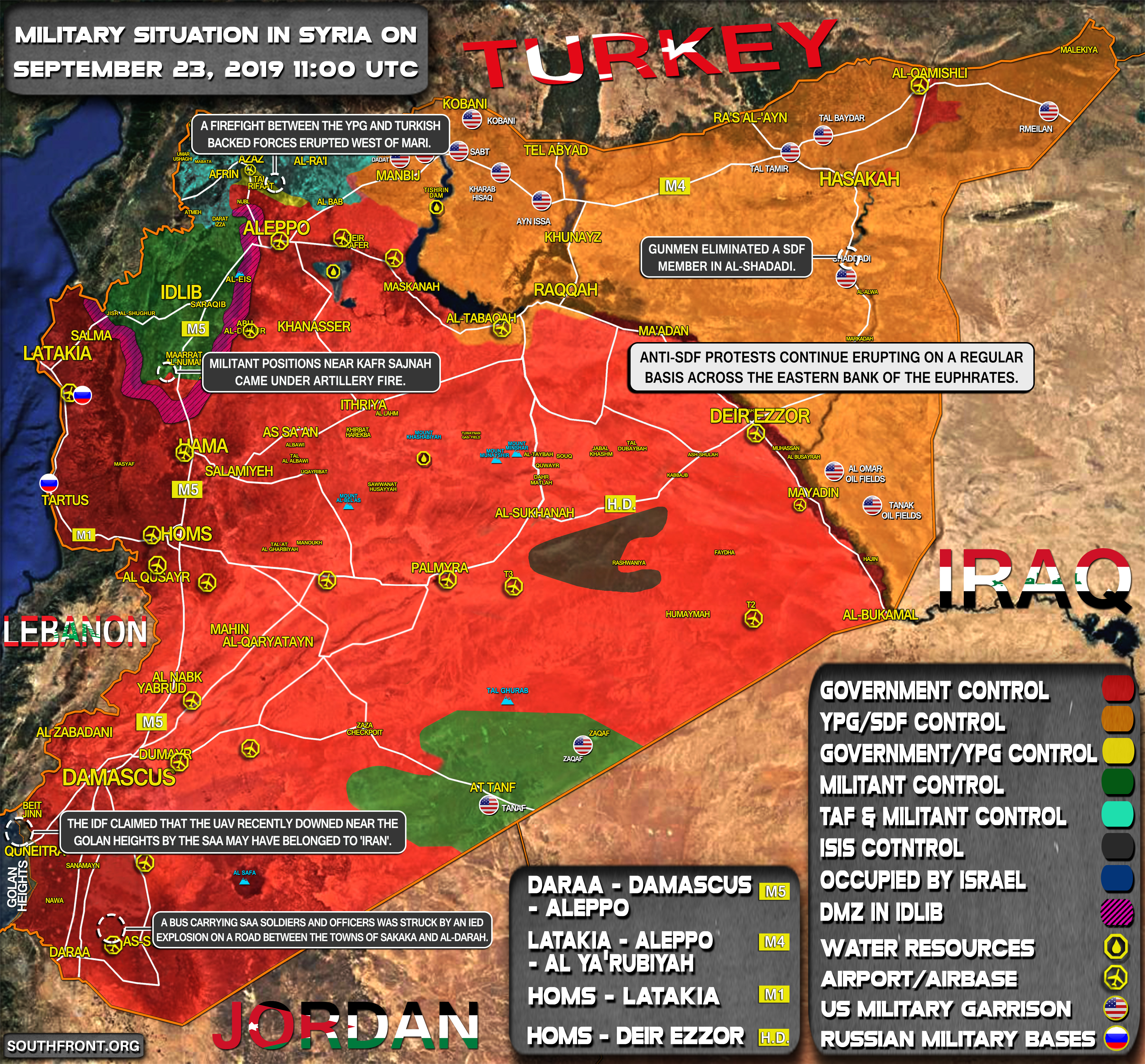 Military Situation In Syria On September 23, 2019 (Map Update)
