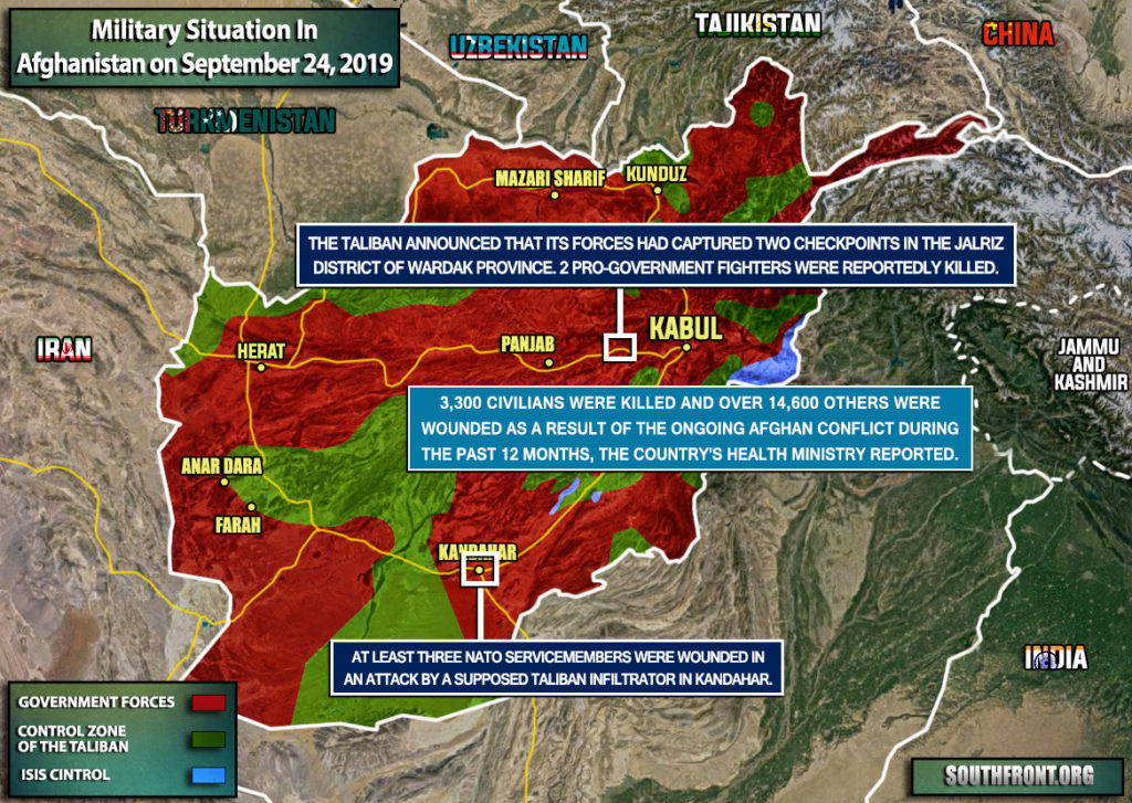 Military Situation In Afghanistan On September 24, 2019 (Map Update)