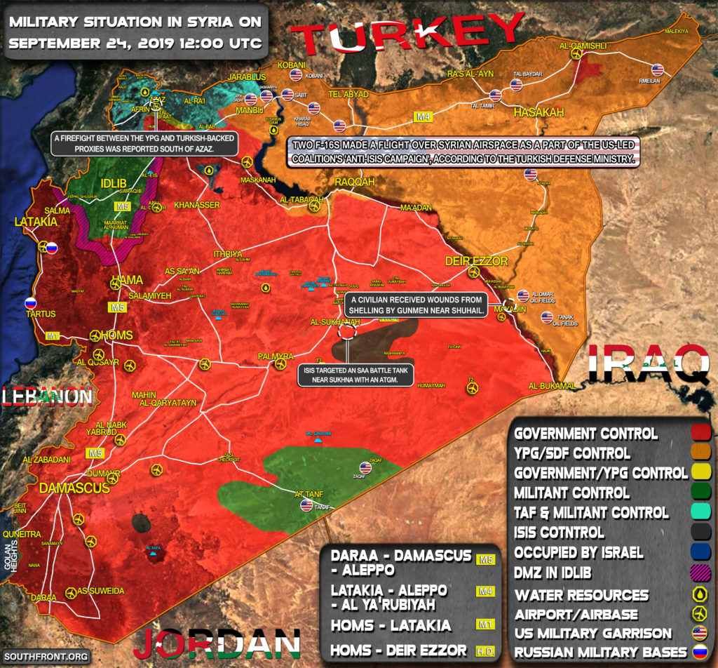 Military Situation In Syria On September 24, 2019 (Map Update)