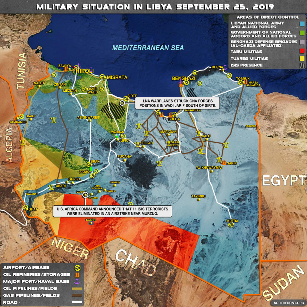 Map Update: Military Situation In Libya On September 25, 2019