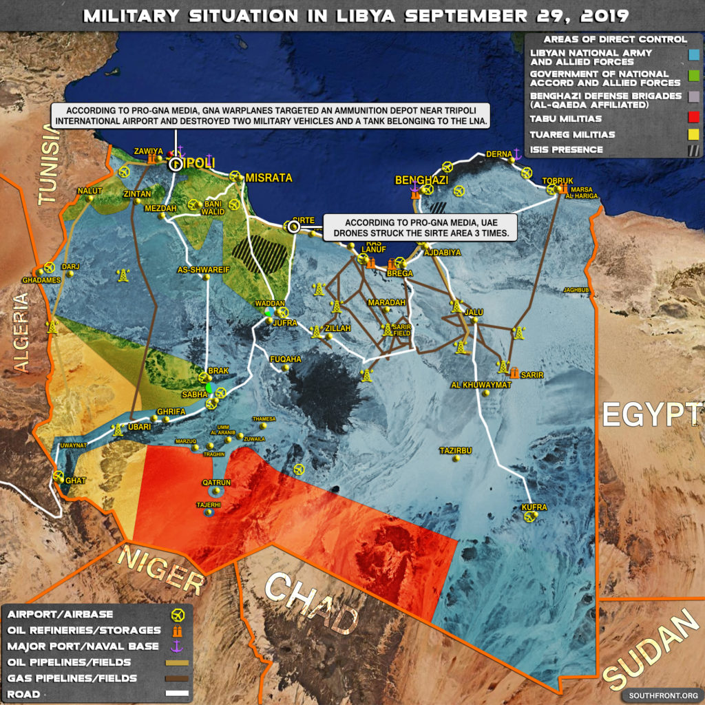 Map Update: Military Situation In Libya On September 29, 2019