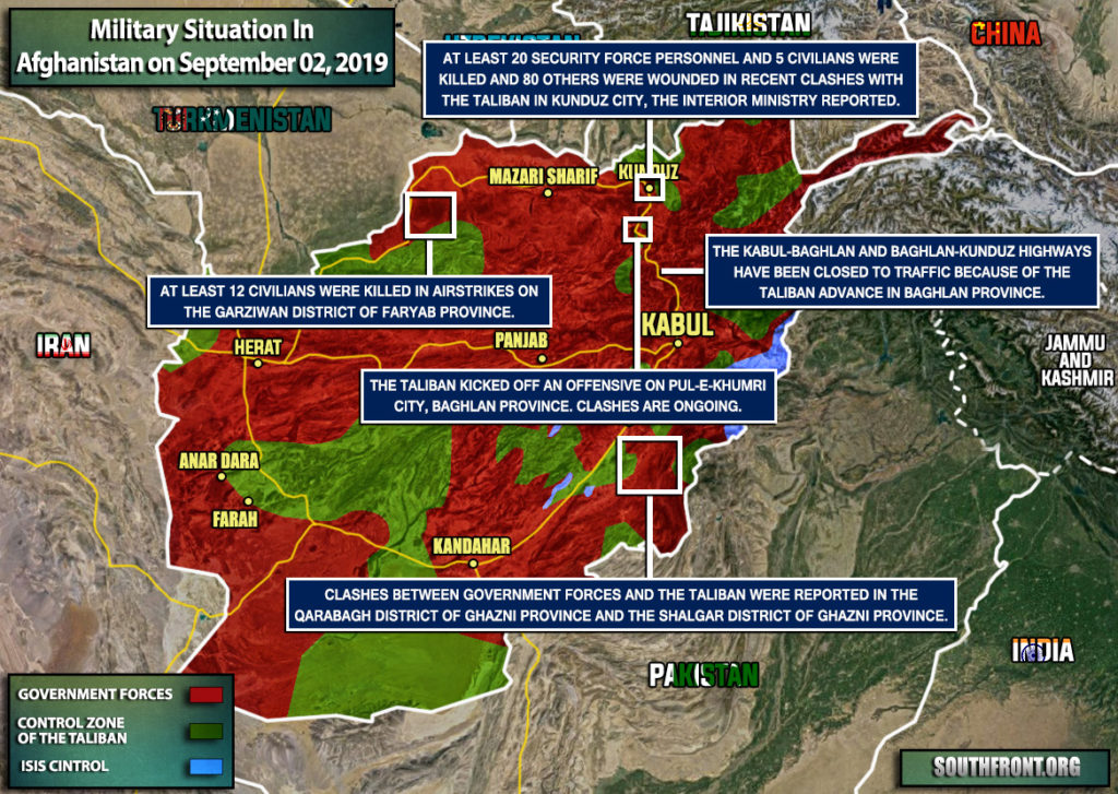 Military Situation In Afghanistan On September 2, 2019 (Map Update)