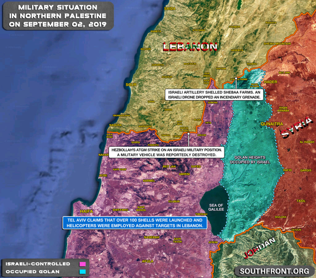 Map Update: Military Escalation At Lebanese-Israeli Cotact Line On September 1