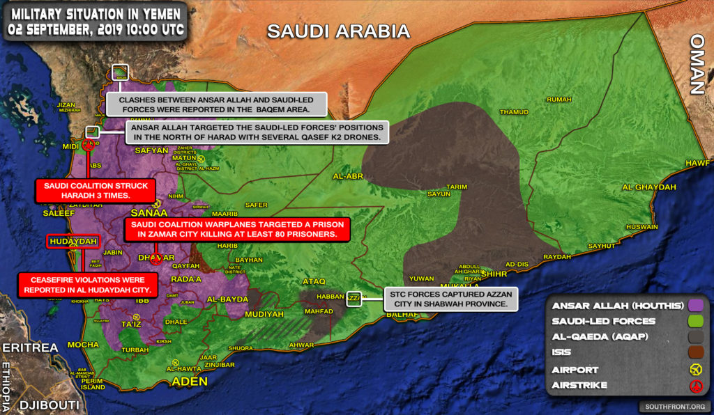 Military Situation In Yemen On September 2, 2019 (Map Update)