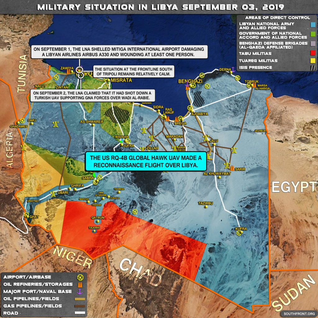 Map Update: Military Situation In Libya On September 3, 2019