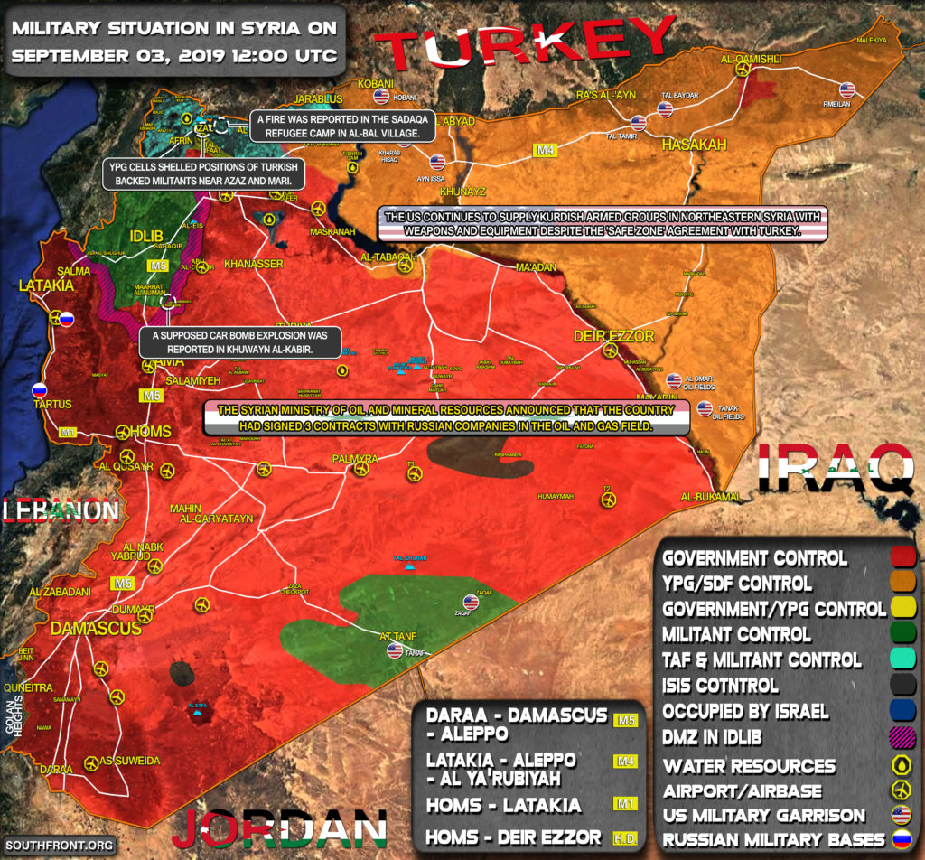 Military Situation In Syria On September 3, 2019 (Map Update)