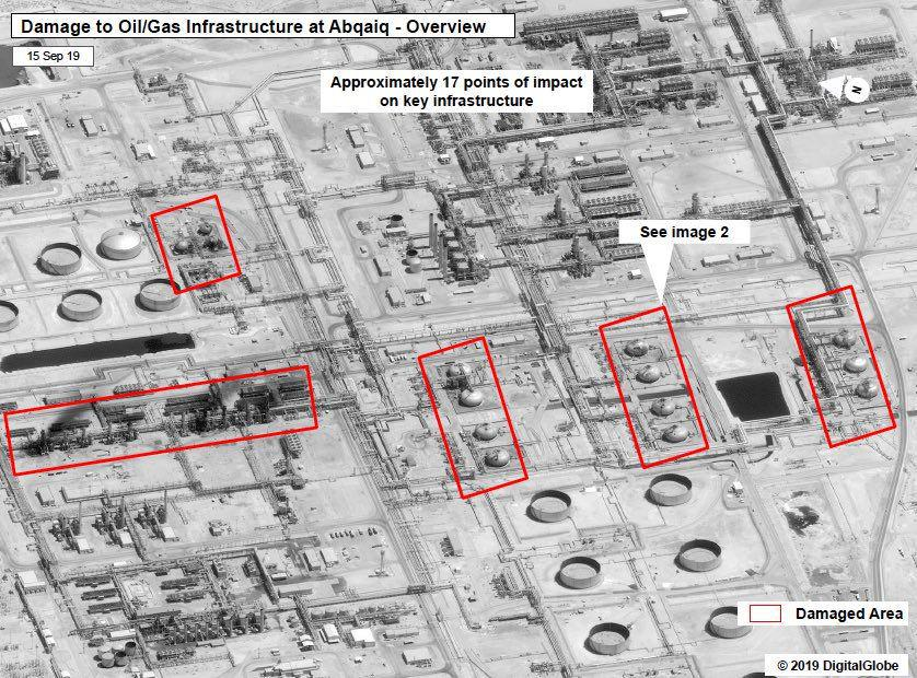 Satellite Images: Impact Of Houthis' Strike On Saudi Oil Infrastructure On September 14