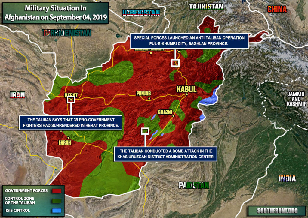 Military Situation In Afghanistan On September 4, 2019 (Map Update)
