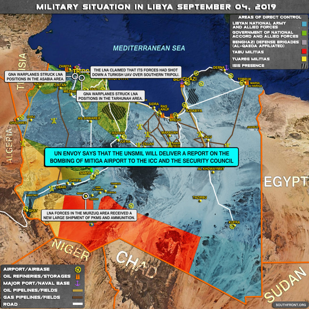 Map Update: Military Situation In Libya On September 4, 2019