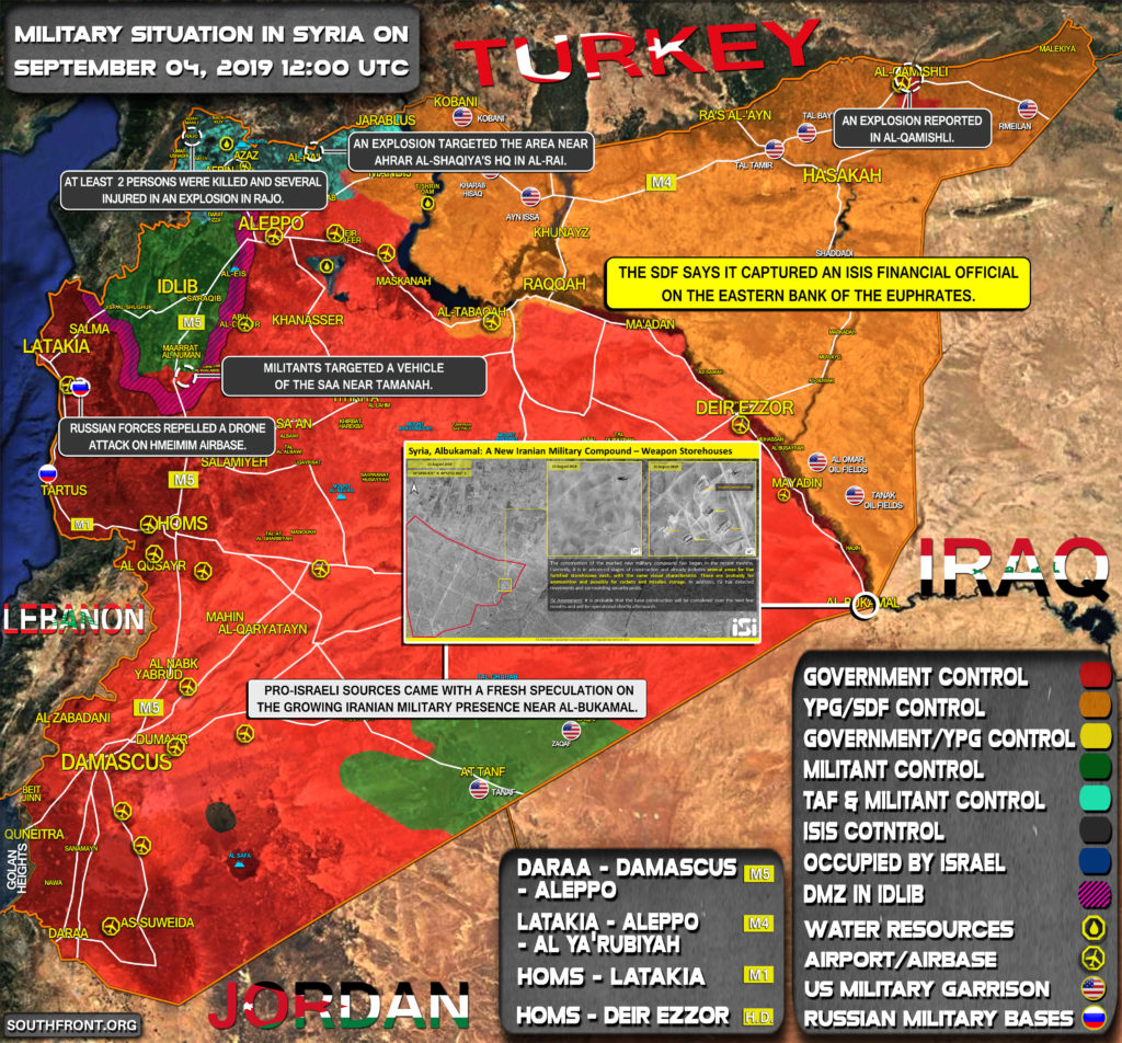 Military Situation In Syria On September 4, 2019 (Map Update)