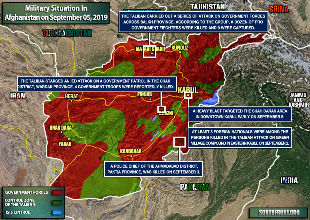 Military Situation In Afghanistan On September 5, 2019 (Map Update)