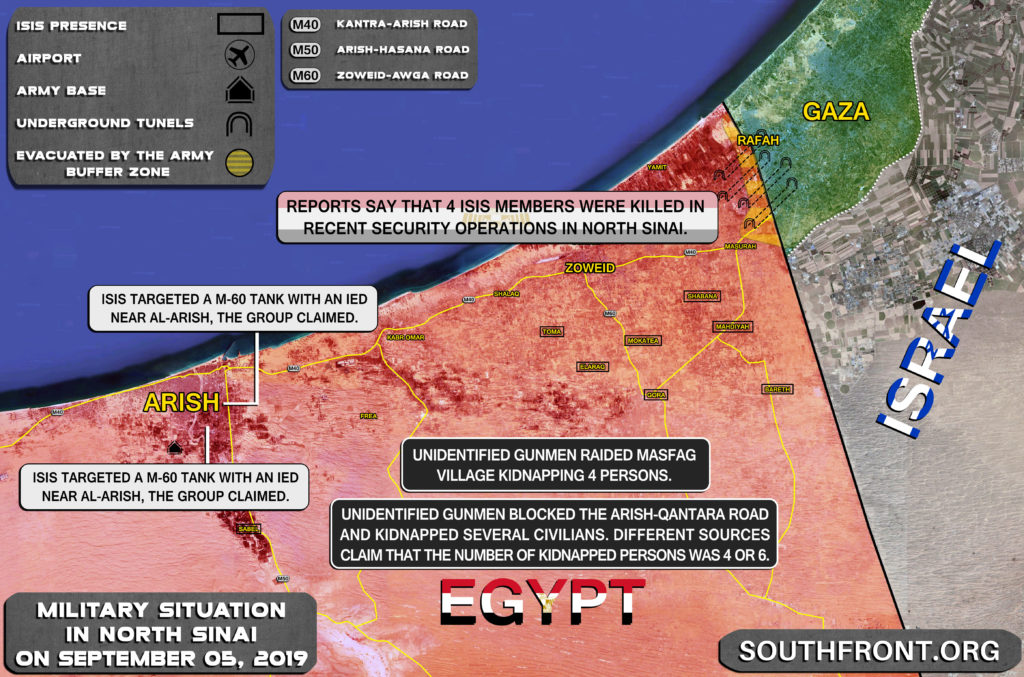 Map Update: Military Situation In Northern Sinai On September 5, 2019