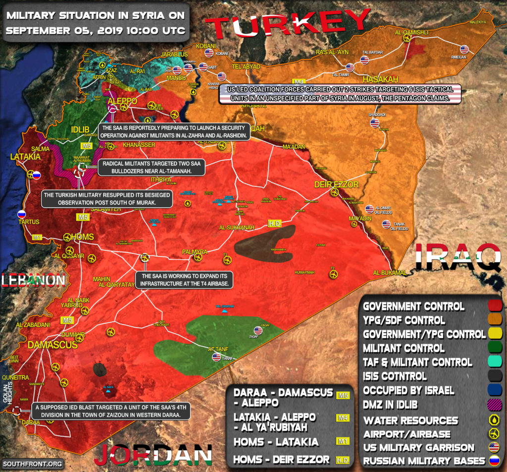 Military Situation In Syria On September 5, 2019 (Map Update)