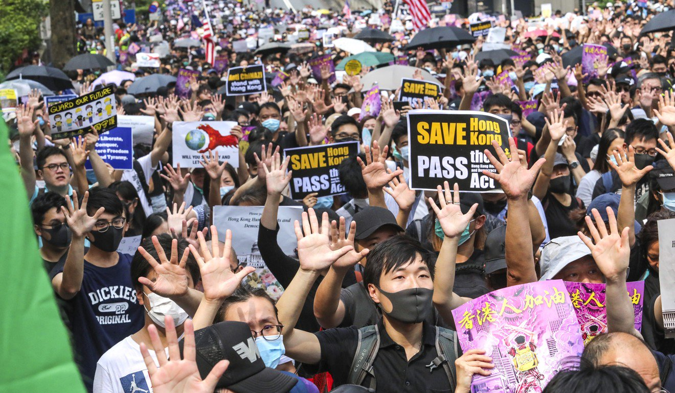 """Trump Save Us or We Will Destroy Our City"": Hong Kong Protesters"