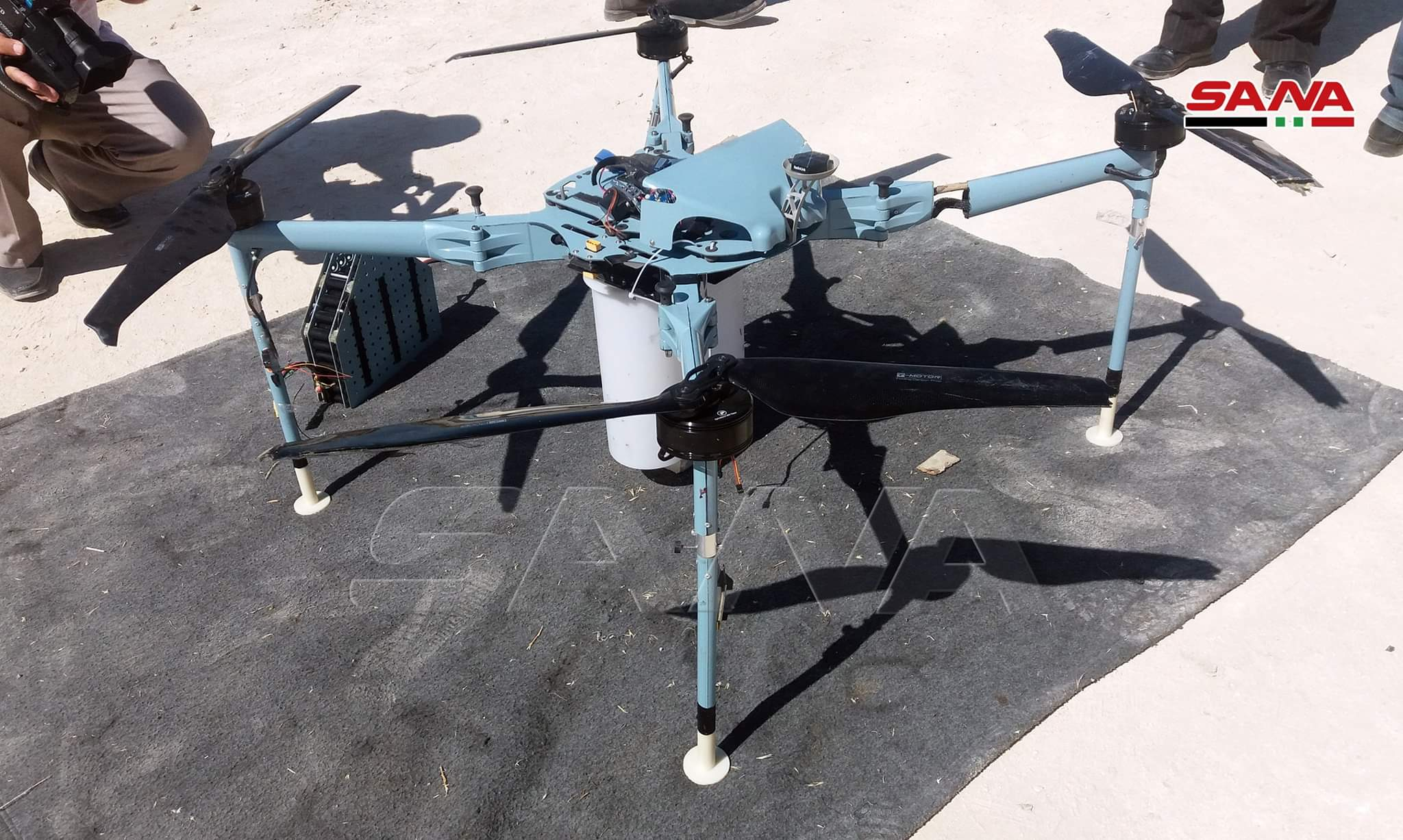 Syrian Army Intercepts Armed, Booby-Trapped Drone Near Israeli-Occupied Golan Heights (Photos)