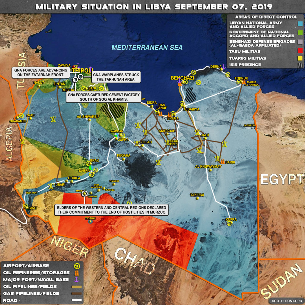 Map Update: Military Situation In Libya On September 7, 2019