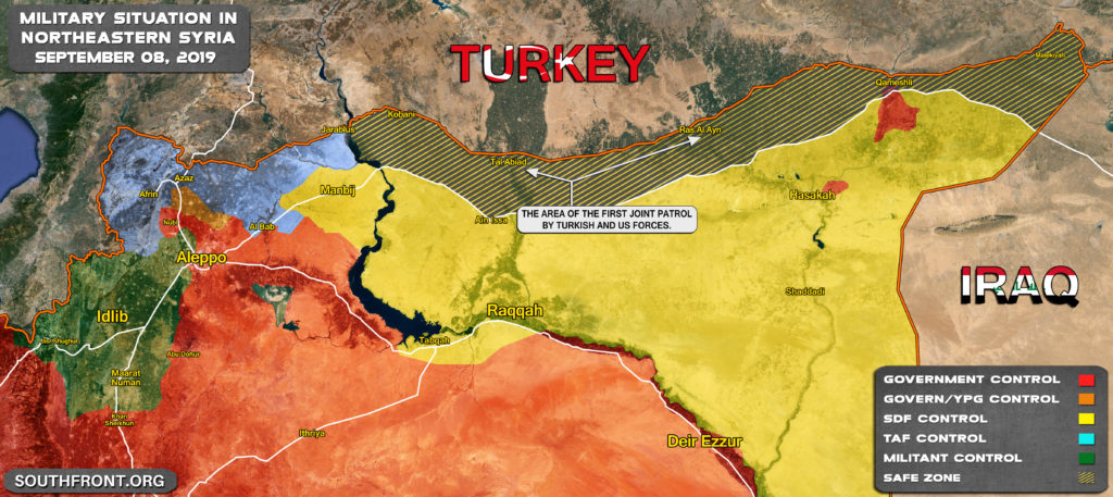 Map Update: Turkish And US Forces Carry Out Joint Patrol In Northeastern Syria
