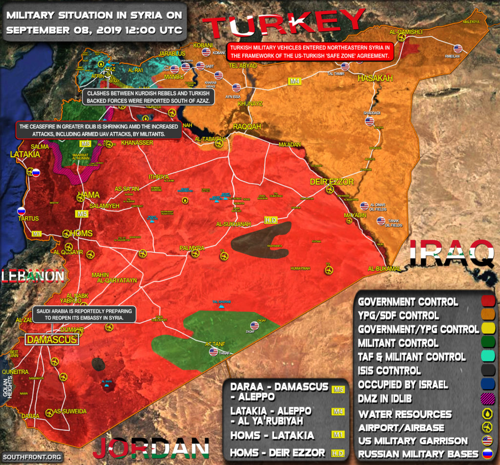 Military Situation In Syria On September 8, 2019 (Map Update)