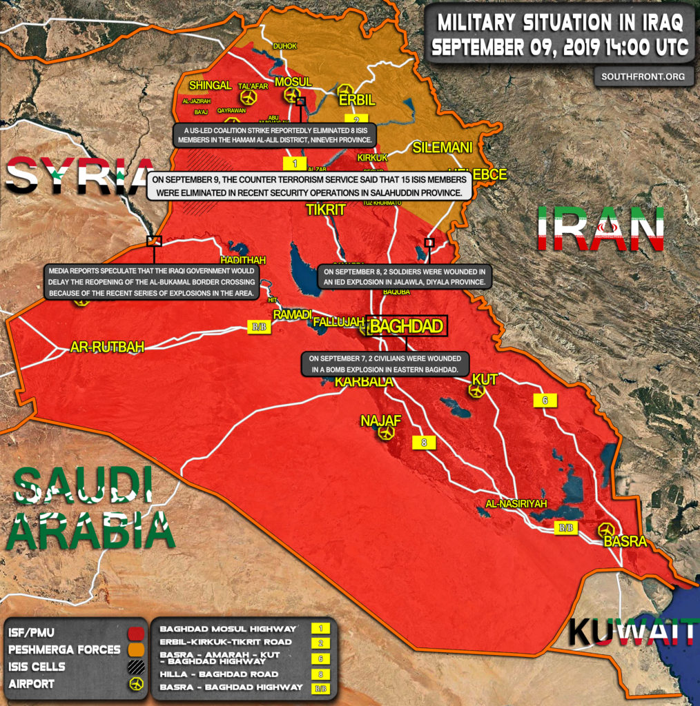 Military Situation In Iraq On September 9, 2019 (Map Update)