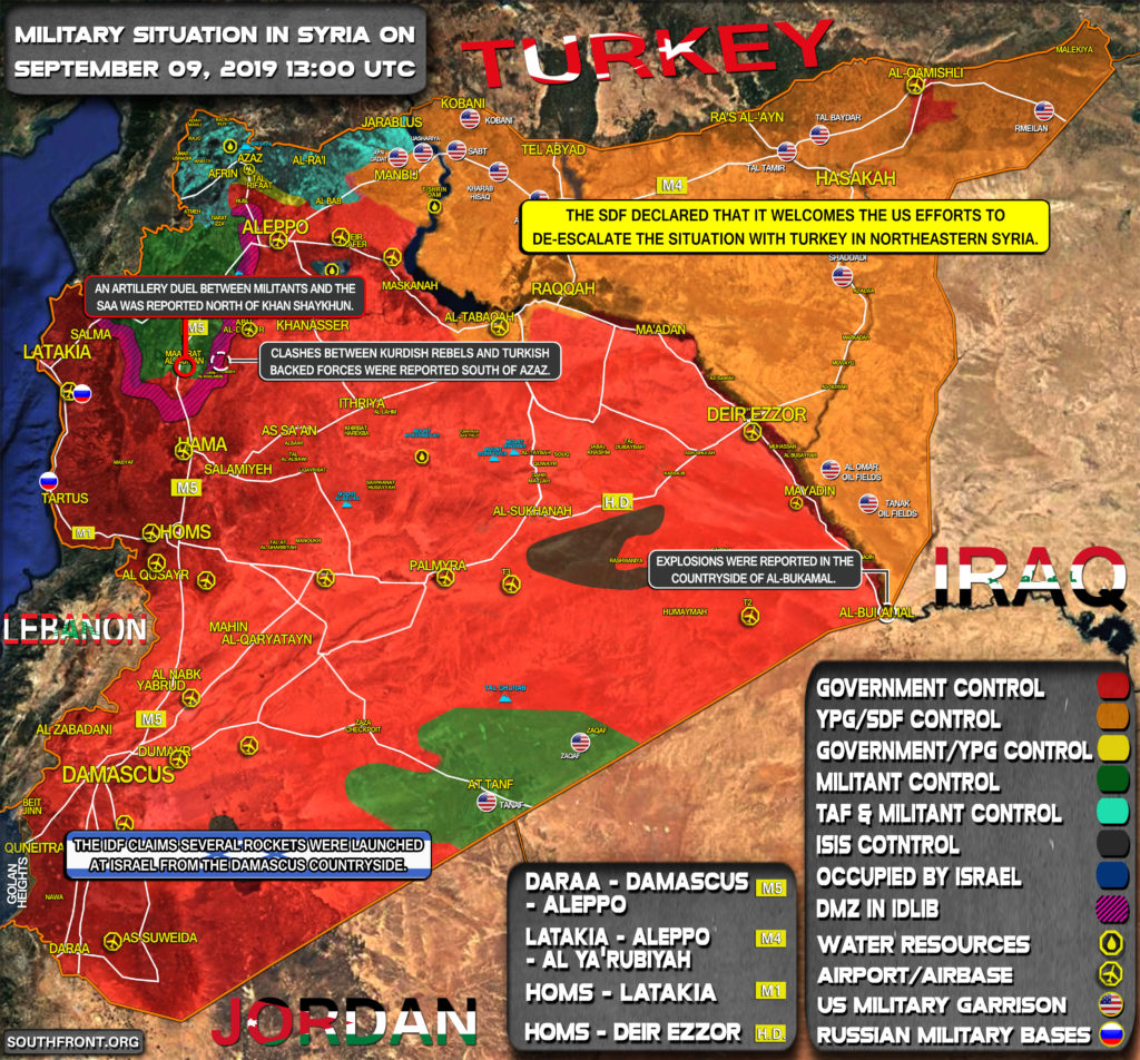 Military Situation In Syria On September 9, 2019 (Map Update)