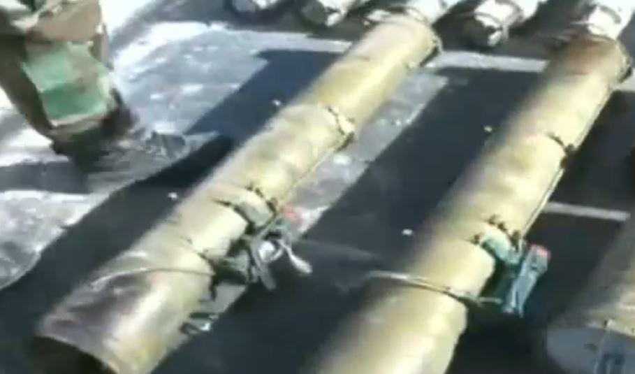 Syrian Army Uncovers Guided Missiles And Other Weapons In Northern Hama (Video)