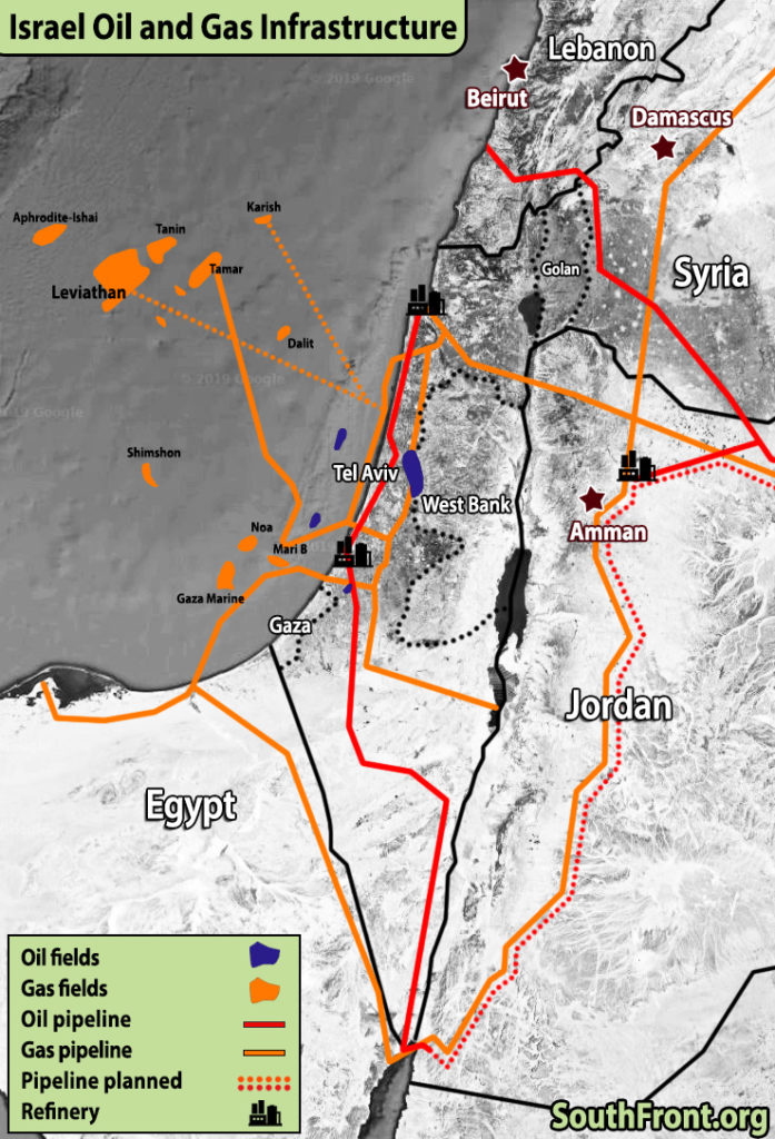 Oil And Gas Infrastructure Controlled By Israel (Map Update)