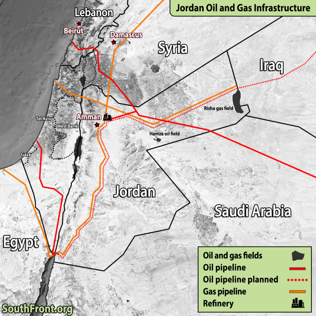 Jordan Oil And Gas Infrastructure (Map Update)
