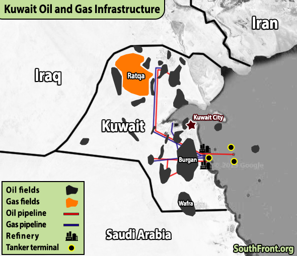 Kuwait Oil And Gas Infrastructure (Map Update)
