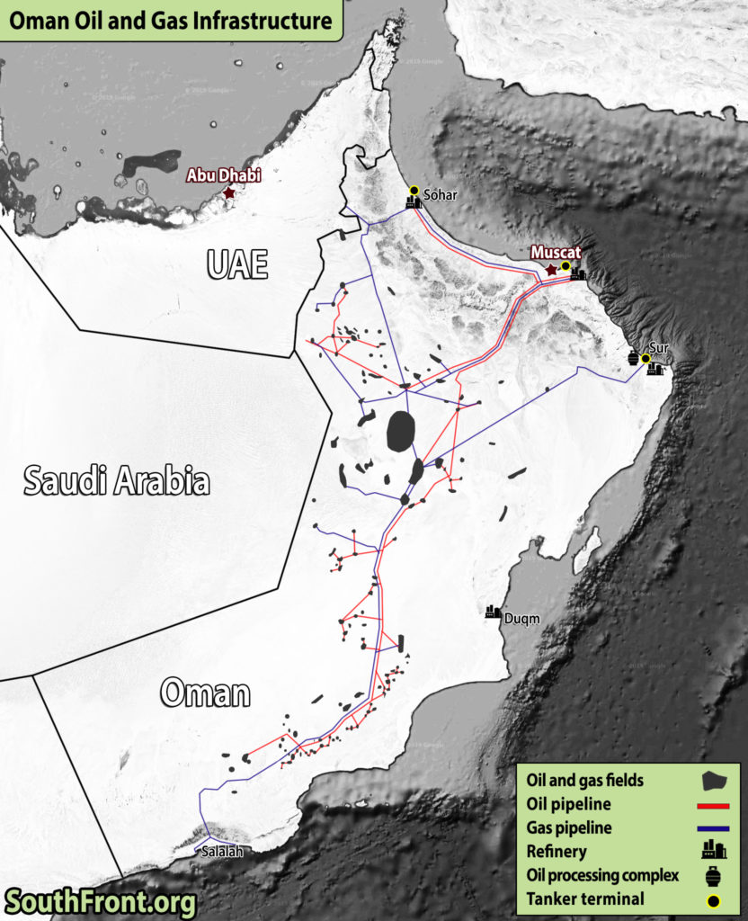 Oman Oil And Gas Infrastructure (Map Update)