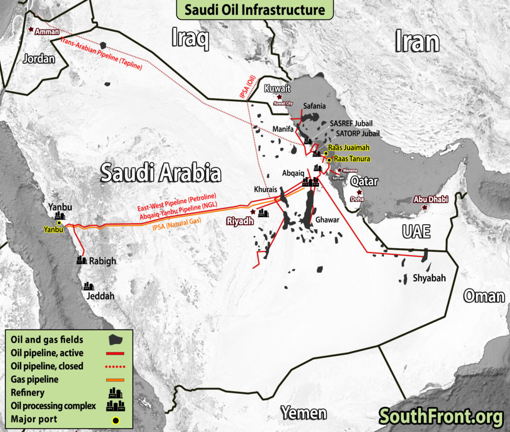 Saudi Arabia's Oil Infrastructure (Map Update)