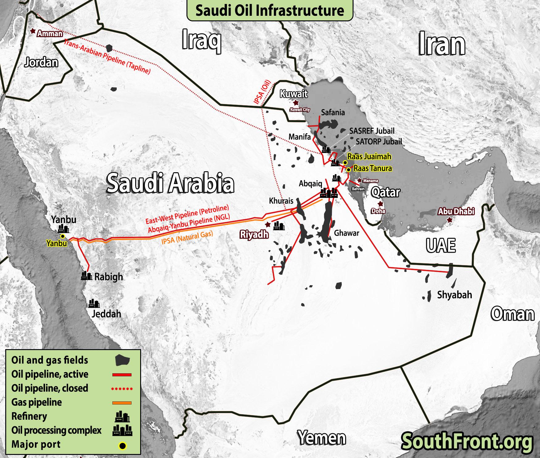 In Maps: Oil And Gas Infrastructure Saudi Arabia, Iran ...