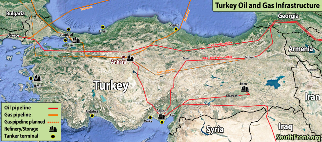 Turkish Oil And Gas Infrastructure (Map Update)
