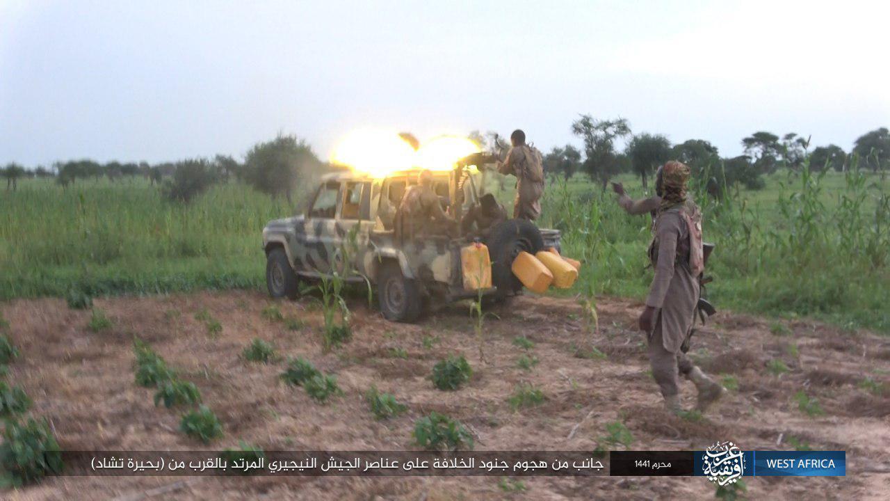 Photos: ISIS Terrorists Ambush Nigerian Army Convoy Near Lake Chad