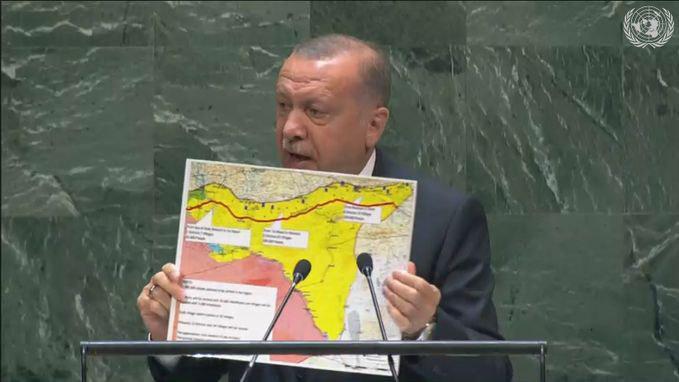 "Erdogan Explains Expanded ""Safe Zone"" In Syria, Absurdity Of Israeli Border Aspirations At UNGA"