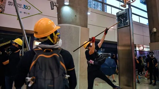 "HK Protesters Smash Through Metro Station, Set Fires Throughout City In ""Peaceful Demonstrations"""