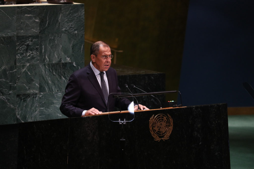 Statement by Russia's Minister of Foreign Affairs at the 74th Session of the UN General Assembly